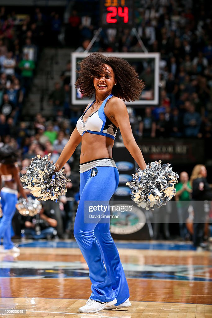 A Minnesota Timberwolves dancer performs in the fourth quarter of a game against the Indiana Pacers on November 9, 2012 at Target Center in Minneapolis, Minnesota.