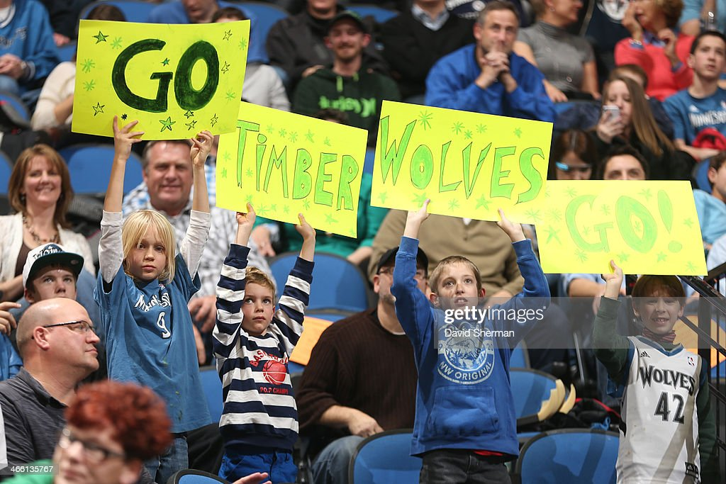 Minnesota Timberwolves fans cheer them on during the game against the Boston Celtics on November 16, 2013 at Target Center in Minneapolis, Minnesota.