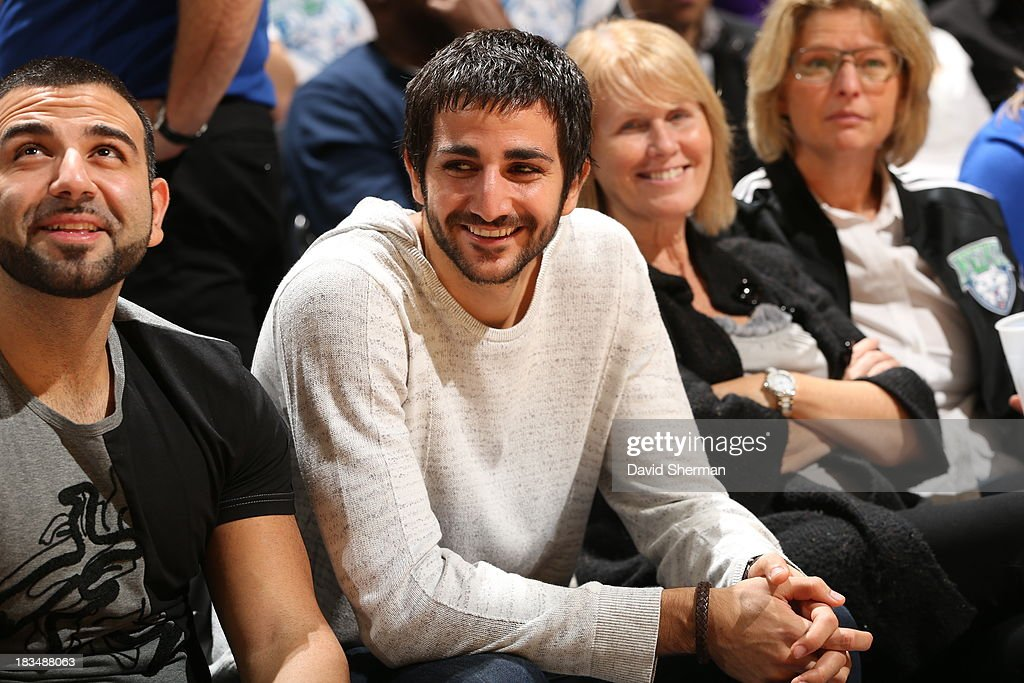 Minnesota Timberwolves' <a gi-track='captionPersonalityLinkClicked' href=/galleries/search?phrase=Ricky+Rubio&family=editorial&specificpeople=4028920 ng-click='$event.stopPropagation()'>Ricky Rubio</a> attends Game 1 of the 2013 WNBA Finals between the Minnesota Lynx and the Atlanta Dream on October 6, 2013 at Target Center in Minneapolis, Minnesota.