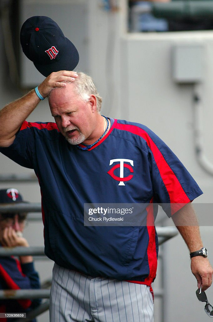 Minnesota Twins' Manager, Ron Gardenhire, scratches his head as he paces the dugout during their game against the Chicago White Sox August 27, 2006 at U.S. Cellular Field in Chicago, Illinois. The White Sox defeated the Twins 6-1.