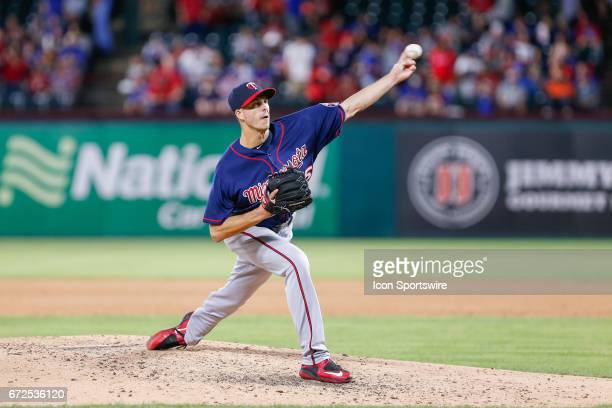 Minnesota Twins Pitcher Taylor Rogers comes on in relief during the MLB game between the Minnesota Twins and Texas Rangers on April 24 2017 at Globe...