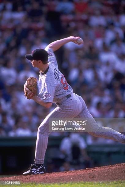 Minnesota Twins Shane Bowers on Aug 16 1997 at Fenway Park in Boston