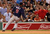 Minnesota Twins shortstop Eduardo Nunez misses a infield pop up by Boston Red Sox designated hitter David Ortiz during the fourth inning at Fenway...