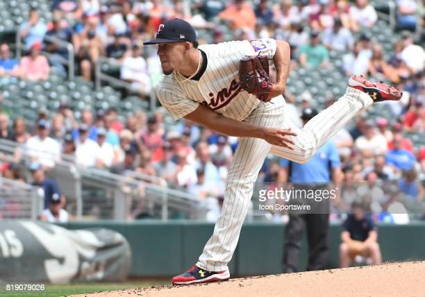 Minnesota Twins Starting pitcher Jose Berrios delivers a pitch during a MLB game between the Minnesota Twins and New York Yankees on July 19 2017 at...