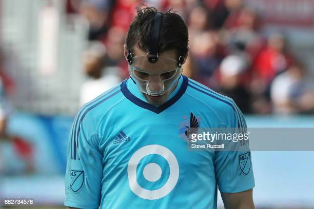 TORONTO MAY 13 Minnesota United goalkeeper Bobby Shuttleworth looks down late in the game as Toronto FC beats Minnesota United 32 in MLS action at...