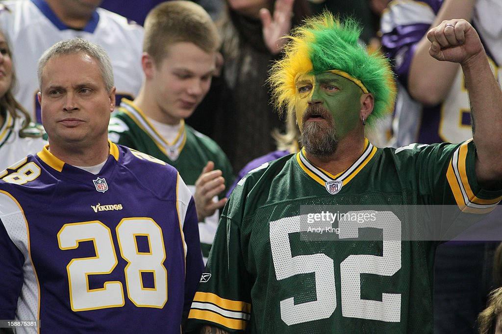 Minnesota Vikings fans won the day on December 30, 2012 at Mall of America Field at the Hubert H. Humphrey Metrodome in Minneapolis, Minnesota but the Green Bay Packers host next week in the playoffs. The Vikings defeated the Packers 37-34.