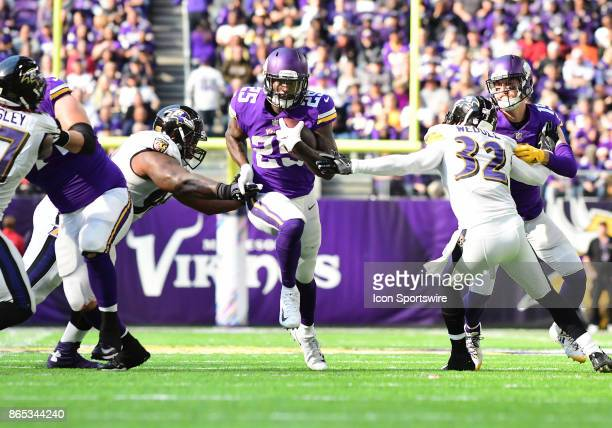 Minnesota Vikings running back Latavius Murray with room to run during a NFL game between the Minnesota Vikings and Baltimore Ravens on October 22...