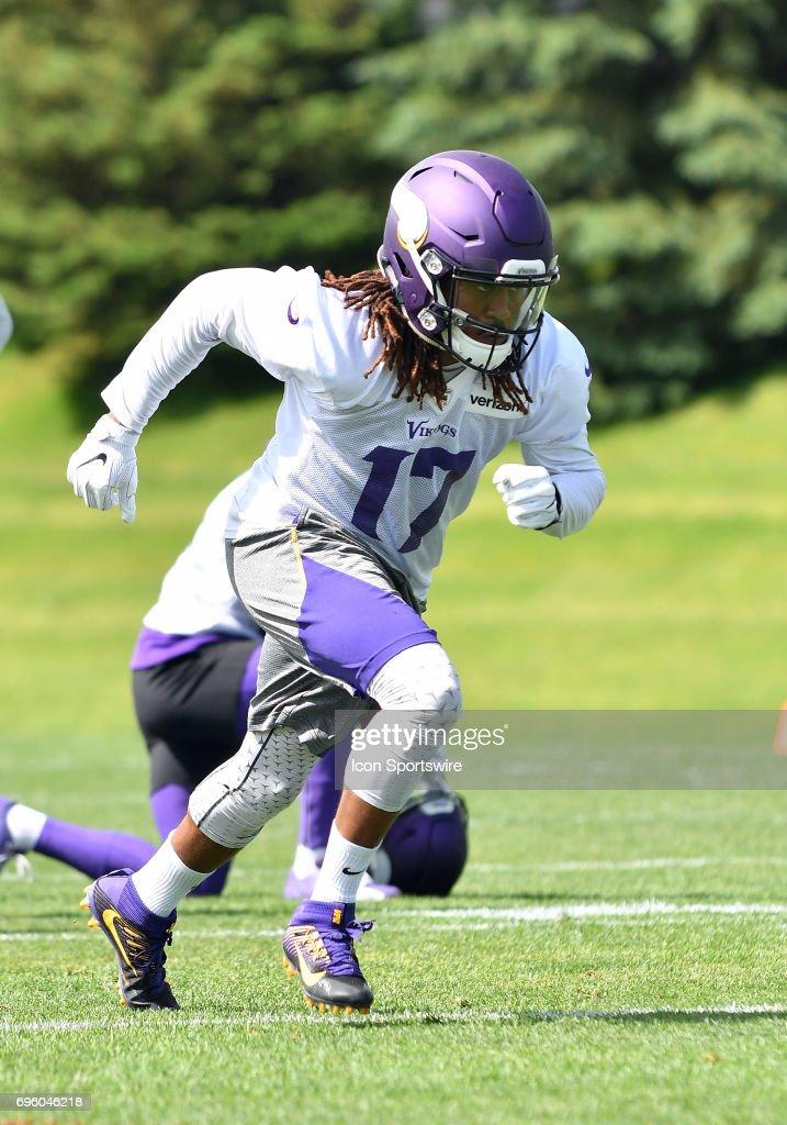 Minnesota Vikings wide receiver Jarius Wright (17) runs a route during Minnesota Vikings Minicamp on June 14, 2017 at Winter Park in Eden Prairie, MN.