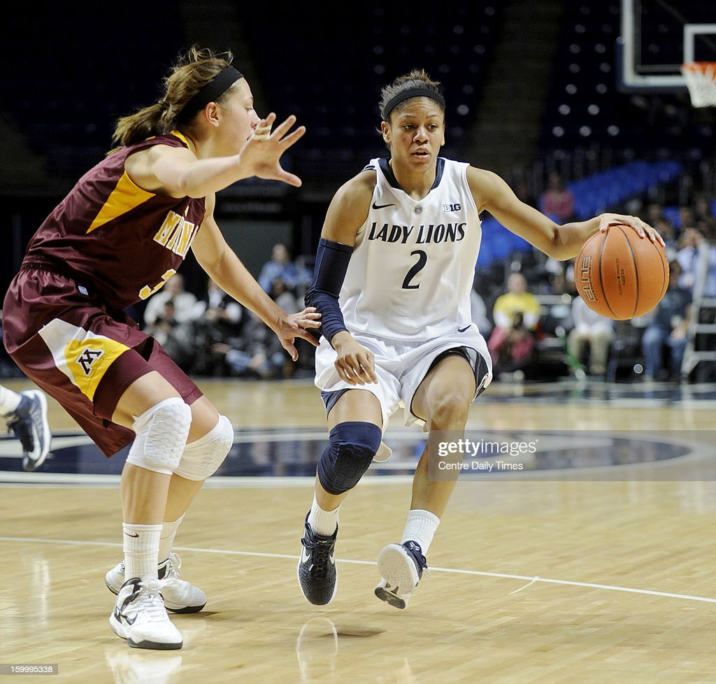 Minnesota's Shayne Mullaney, left, tries to stop Penn State's Dara Taylor on Thursday, January 24, 2013, at the Bryce Jordan Center in University Park, Pennsylvania. The Lady Lions won, 64-59.