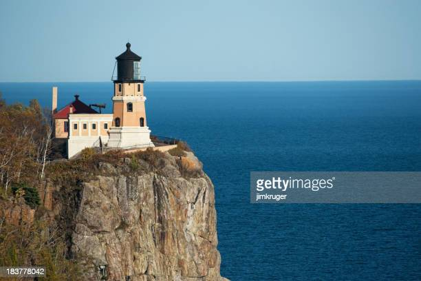 Minnesota's split rock lighthouse perched high over Lake Superio