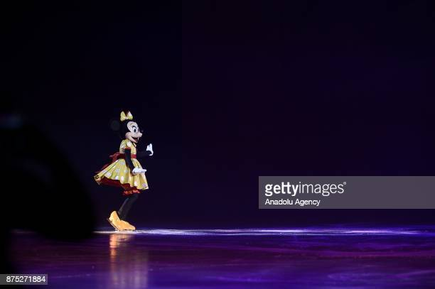 Minnie character performs during the Disney on Ice show at Tauron Arena Krakow Poland on the November 17 2017 Disney on Ice is a show through the...
