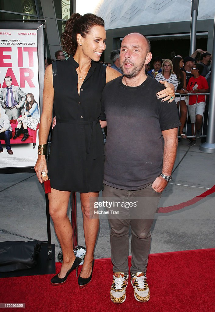 <a gi-track='captionPersonalityLinkClicked' href=/galleries/search?phrase=Minnie+Driver&family=editorial&specificpeople=201884 ng-click='$event.stopPropagation()'>Minnie Driver</a> (L) and Dan Mazer arrive at a Los Angeles special screening of 'I Give It A Year' held at ArcLight Hollywood on August 1, 2013 in Hollywood, California.