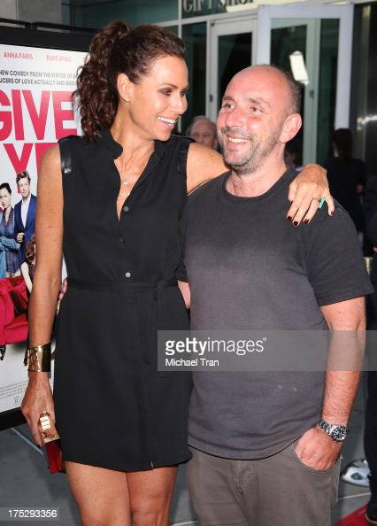 Minnie Driver and Dan Mazer arrive at a Los Angeles special screening of 'I Give It A Year' held at ArcLight Hollywood on August 1 2013 in Hollywood...