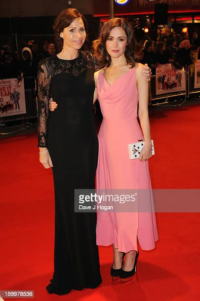 Minnie Driver and Rose Byrne attend the European premiere of 'I Give It A Year' at The Vue West End on January 24 2013 in London England