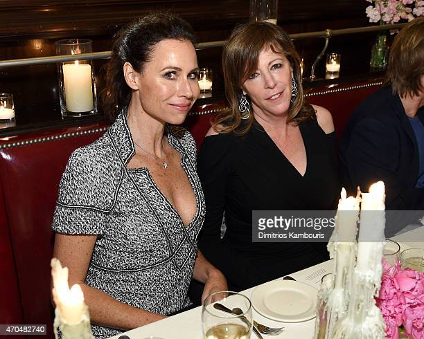 Minnie Driver and Tribeca Film Festival Cofounder Jane Rosenthal attend the 2015 Tribeca Film Festival CHANEL Artists Dinner at Balthazer on April 20...