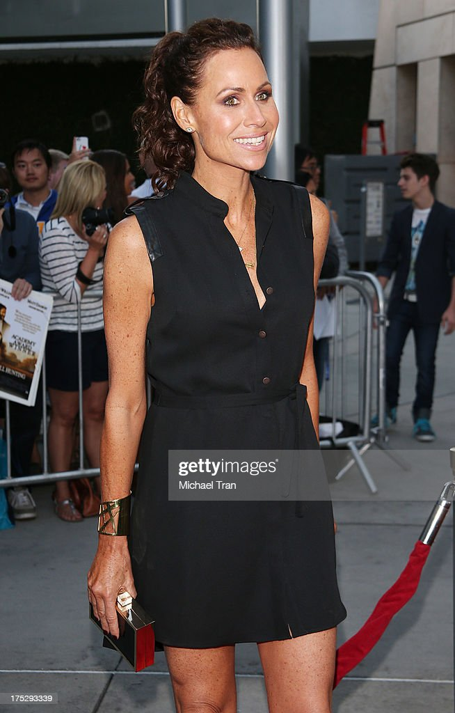 Minnie Driver arrives at a Los Angeles special screening of 'I Give It A Year' held at ArcLight Hollywood on August 1, 2013 in Hollywood, California.