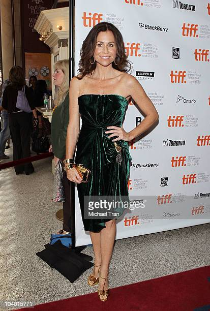 Minnie Driver arrives at the 'Conviction' premiere held at The Elgin during 2010 Toronto International Film Festival on September 11 2010 in Toronto...