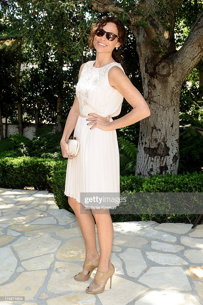 Minnie Driver attends Lorena Sarbu Resort 2014 Luncheon on July 24, 2013 in Beverly Hills, California.