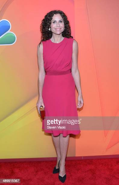 Minnie Driver attends the 2014 NBC Upfront Presentation at The Jacob K Javits Convention Center on May 12 2014 in New York City