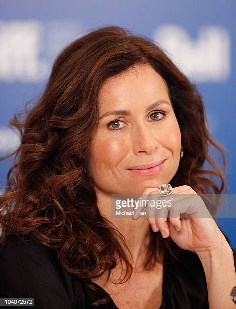 Minnie Driver attends the 'Conviction' press conference during the 2010 Toronto International Film Festival held at the Hyatt Regency on September 13...