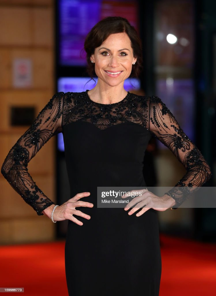 Minnie Driver attends the European Premiere of 'I Give It A Year' at Vue West End on January 24, 2013 in London, England.