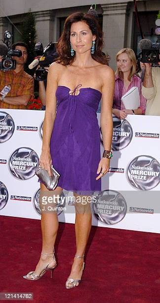 Minnie Driver during 2004 Nationwide Mercury Music Prize Arrivals at Grosvenor House in London Great Britain