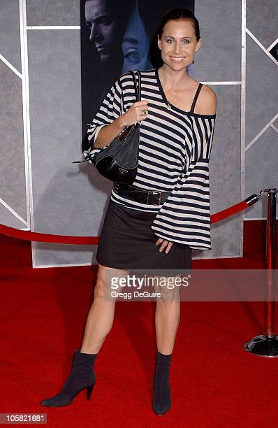 Minnie Driver during 'The Prestige' World Premiere Arrivals at El Capitan Theatre in Hollywood California United States