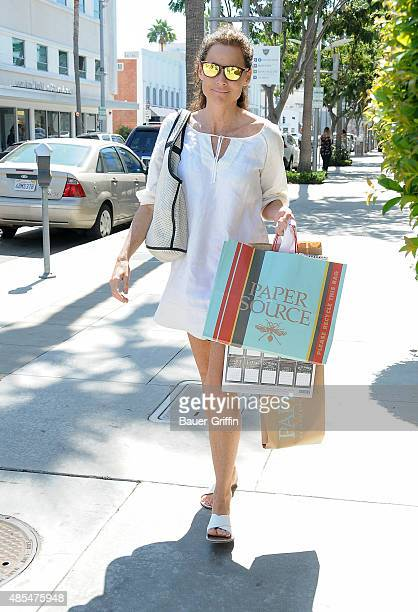 Minnie Driver is seen on August 27 2015 in Los Angeles California