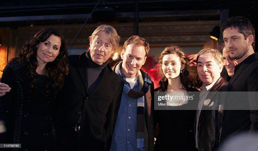 Minnie Driver Joel Schumacher Patrick Wilson Emmy Rossum Andrew Lloyd Webber and Gerard Butler