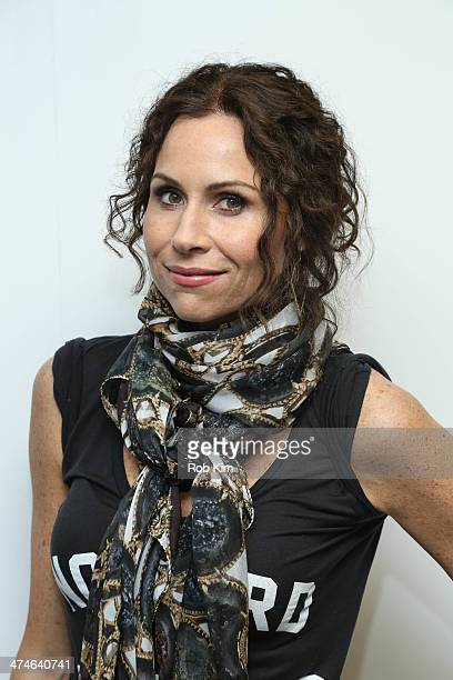 Minnie Driver visits at SiriusXM Studios on February 24 2014 in New York City