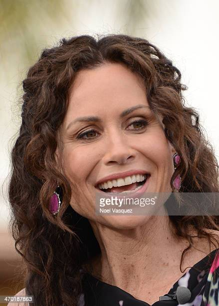 Minnie Driver visits 'Extra' at Universal Studios Hollywood on February 18 2014 in Universal City California