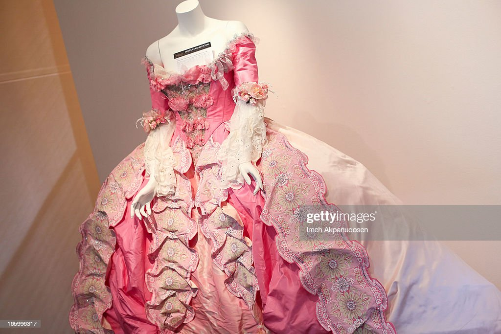 Minnie Driver's costume from the 'IL Muto' opera within the film 'Phantom of the Opera' on display during the 'Hollywood Legends' auction preview at Julien's Auctions Gallery on April 1, 2013 in Beverly Hills, California.