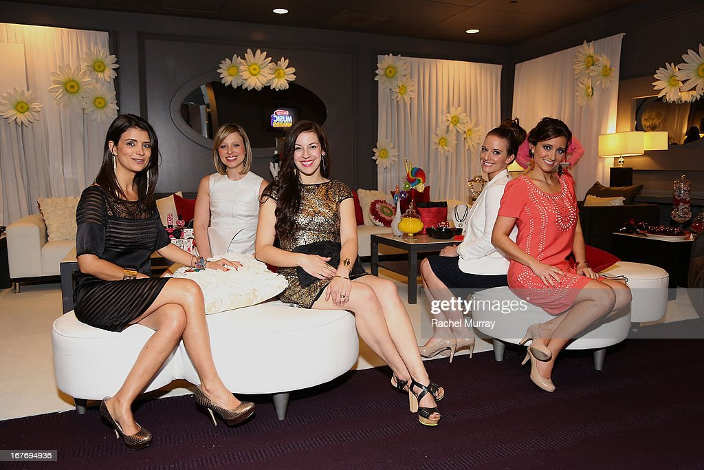 Minnie Messengers Anna Flores, Lauren Jimeson, Casey Mullins, Lauren Hartmann, and Mindy McKnight attend the Minnie Gifting Lounge during the 2013 Radio Disney Awards at Nokia Theatre L.A. Live on April 27, 2013 in Los Angeles, California.