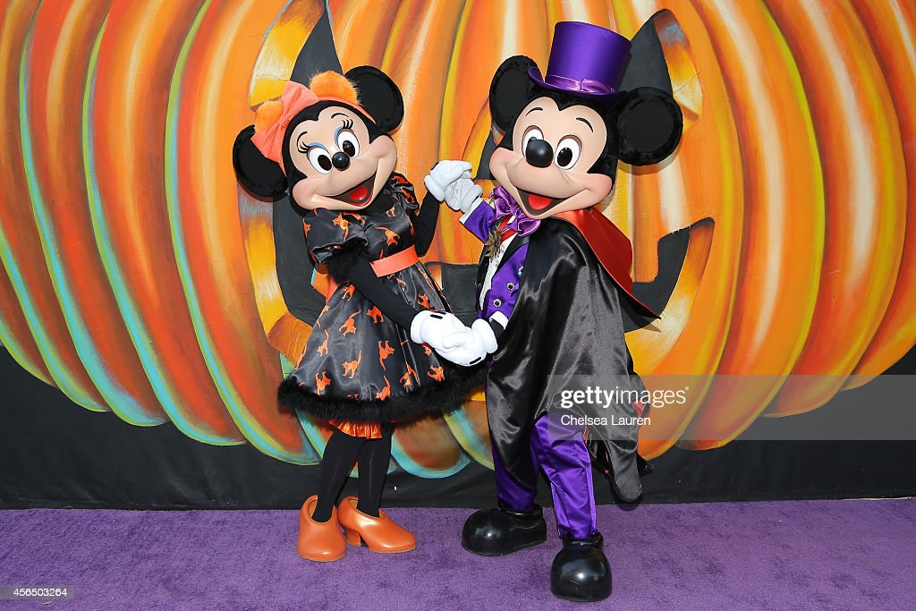 minnie mouse and mickey mouse attend disneys vip halloween event at disney consumer products campus on - Mickey Minnie Halloween