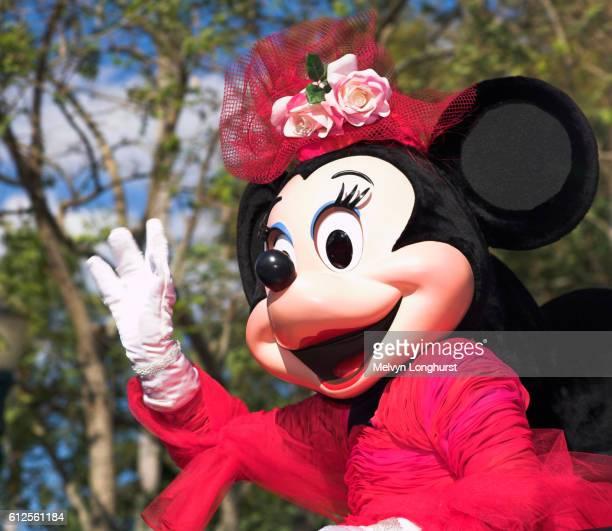 Minnie Mouse, Disney Stars and Motor Cars Parade, Disney MGM Studios, Disney World, Orlando, Florida, USA