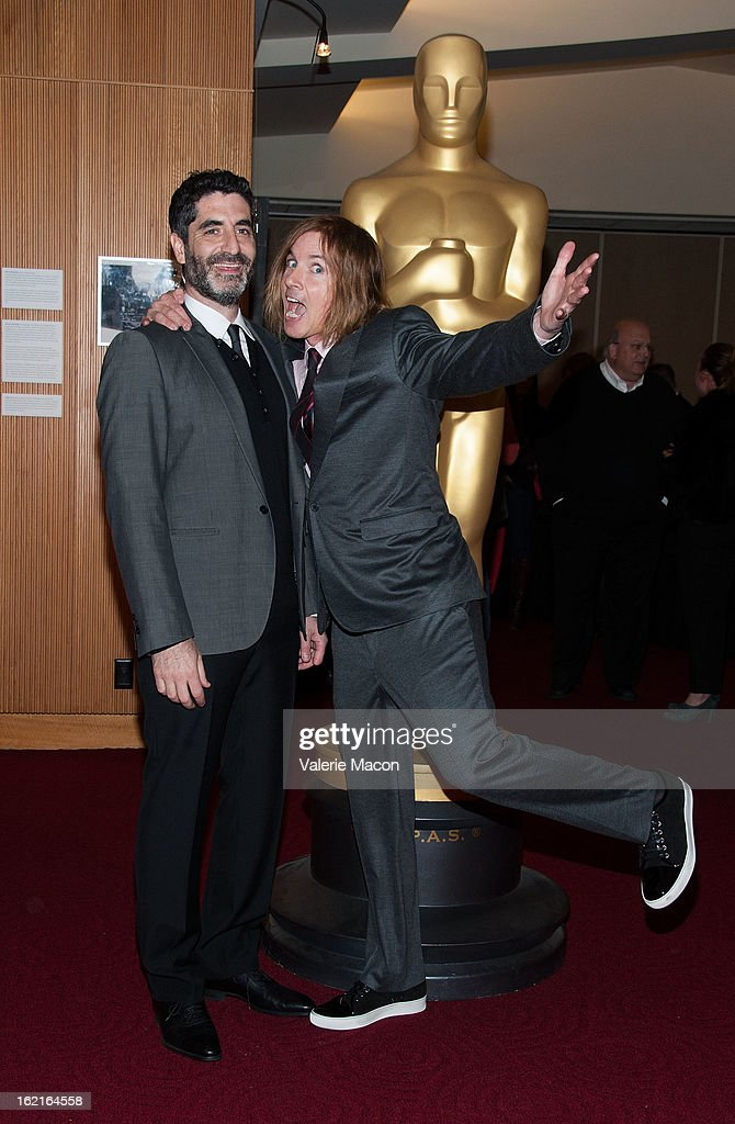 Mino Jarjoura and Bryan Buckley attends The Academy Of Motion Picture Arts And Sciences Presents Oscar Celebrates: Shorts at AMPAS Samuel Goldwyn Theater on February 19, 2013 in Beverly Hills, California.