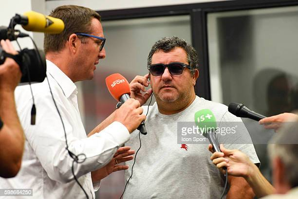 Mino Raiola agent of new signing player of Nice Mario Balotelli during press conference of OGC Nice on September 2 2016 in Nice France