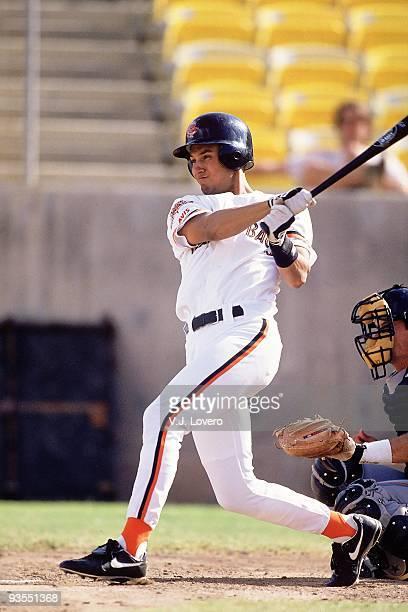 Arizona Fall League Chandler Diamondbacks Derek Jeter in action at bat during game at Compadre Stadium Chandler AZ CREDIT VJ Lovero
