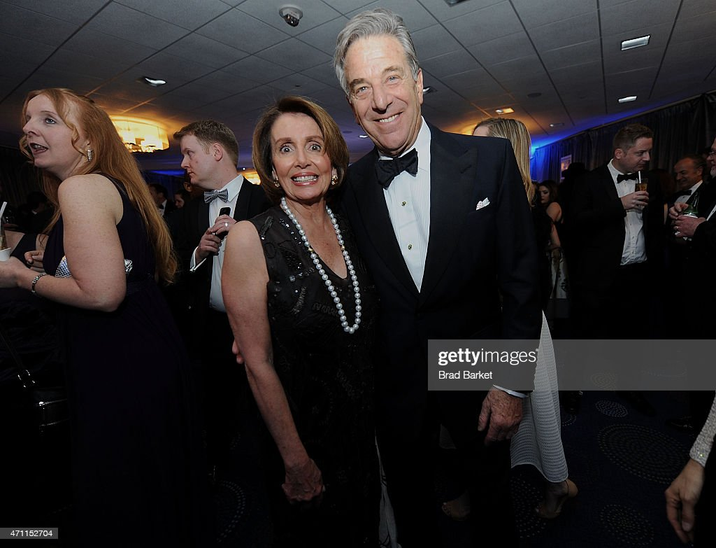 Minority Leader of the United States House of Representatives Nancy Pelosi (L) and husband Paul Pelosi attend The Washington Post White House Correspondents' Pre-Dinner Reception at The Washington Hilton on April 25, 2015 in Washington, DC.
