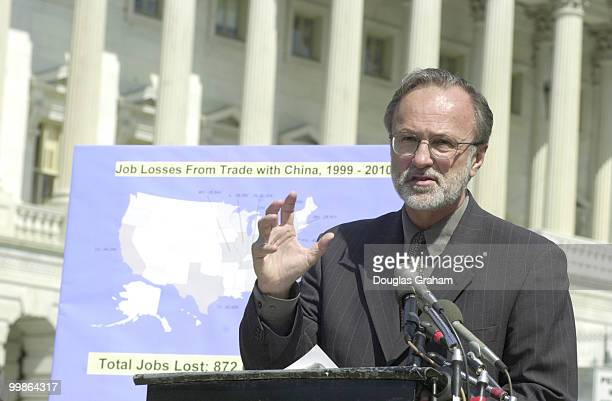 Minority Whip David E BoniorDMi during a press conference on China PNTR