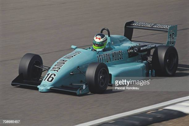 Minoru Tanaka of Japan drives the West Surrey Racing Leyton House Ralt RT34 Mugen Honda during the British Formula 3 Championship race on14 July 1990...