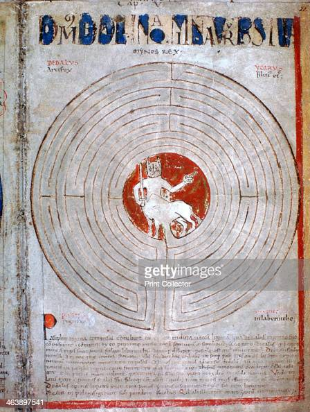 Minotaur in a labyrinth a page from Liber Floridus 12th century Liber Floridus was an encyclopedia compiled by Lambert Canon of St Omer between 1095...