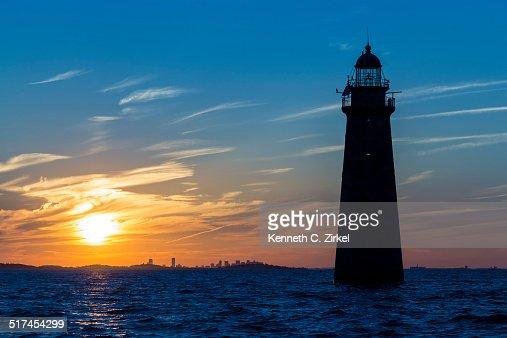 Minot's Ledge Lighthouse : Stock Photo
