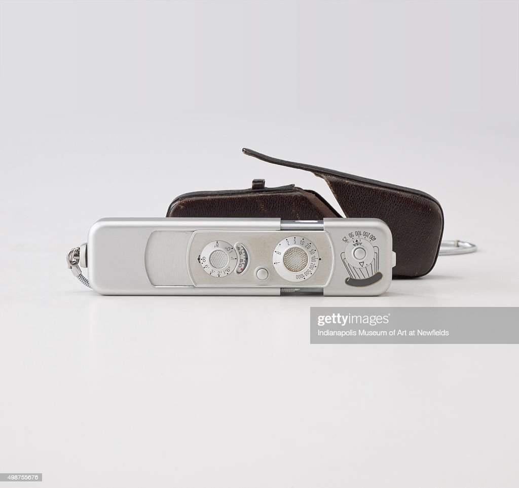Minox B Camera and accessories, by Russian manufacturer Walter Zapp / Minox GmbH, 1958. Gift of Judith F. Grimes.