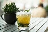 Homemade classic mint julep