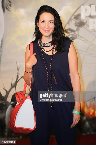 Minu Barati attenda a special preview for the film 'Dawn of the Planet of the Apes' at Freizeitpark Spreepark on July 30 2014 in Berlin Germany