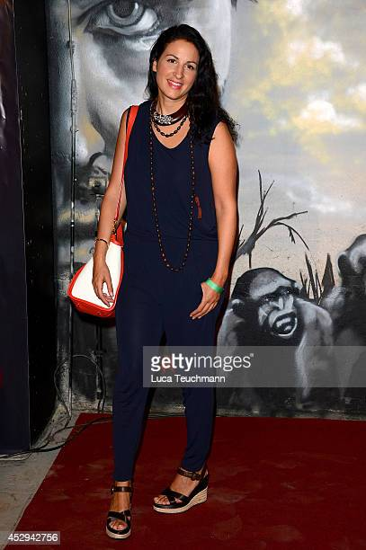 Minu Barati Fischer attends a special preview for the film 'Dawn of the Planet of the Apes' at Freizeitpark Spreepark on July 30 2014 in Berlin...