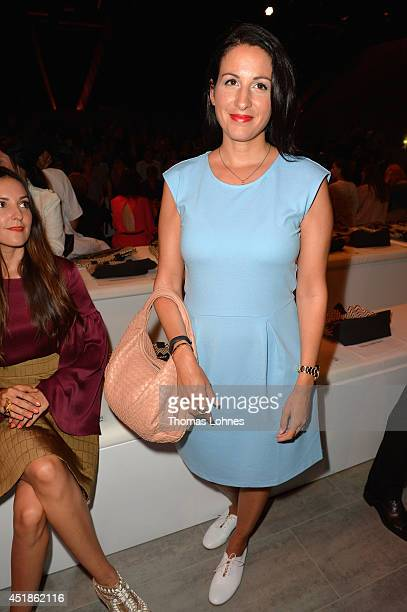 Minu Barati Fischer attends the Kilian Kerner show during the MercedesBenz Fashion Week Spring/Summer 2015 at Erika Hess Eisstadion on July 8 2014 in...