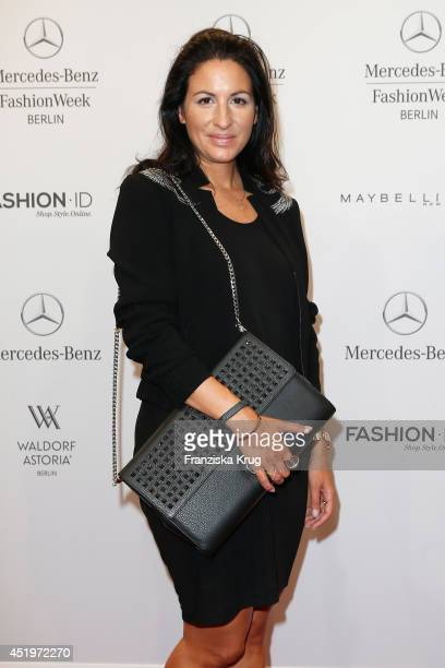 Minu Barati Fischer attends the Laurel show during the MercedesBenz Fashion Week Spring/Summer 2015 at Erika Hess Eisstadion on July 10 2014 in...