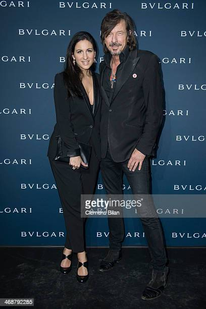 Minu BaratiFischer and Tom Lemke attend the 130 years of glam culture party by Bulgari at Kaufhaus Jandorf on February 11 2014 in Berlin Germany